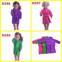 Wholesale 3 Colors Pajamas Nightgown Nightie nightclothes Bed Gown for inch doll