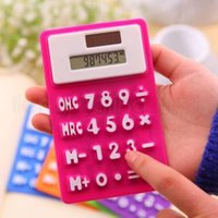 Wholesale Portable Silicone Scientific Calculator Foldable Pocket Calculadora Student Calculadora Cientifica For School Office Use Tool RRA360