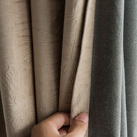 Wholesale Solid Blackout Curtain For Living Room Bedroom Modern Blackout Curtains For Window Treatment Drapes Blinds Shading