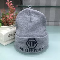 Wholesale twill linen online - 2018 Good Sale qp pp men fashion knitted hat classical sports skull caps Female casual outdoor goose Women beanies