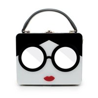 Wholesale evening bags online - Pop Design Women Acrylic Handbags Red Lip With Glasses Lady Tote Handbag Evening Bags Party Clutch Purse Shoulder Bag c1155
