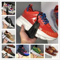Wholesale Chain Reaction Love Sneakers Sport Fashion luxury designer Casual Shoes Trainer Lightweight Link Embossed Sole With Dust Bag