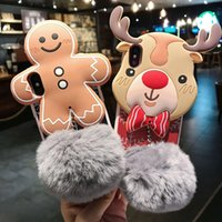 Wholesale Cartoon Furry Ball Protective Cover Phone Case for Iphone Plus Mobile Phone Shell Winter Furry Ball for Iphone xs max