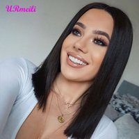 Wholesale Short Ombre Human Hair Lace Front Bob Wigs For Women raw virgin indian hair Density Lace Front Human Hair Wigs Pre Plucked
