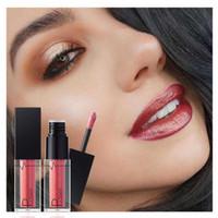 Wholesale long lasting lip colour online - Pudaier Colour Glittering Liquid Lipstick long lasting Lip gloss Waterproof Shining Lip Gloss maquiagem professional makeup lipgloss