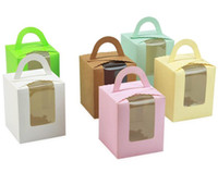 Wholesale kraft Window Box Packing Gift Boxes with pvc window for Candy Cake Soap Cookie Cupcake Display Box