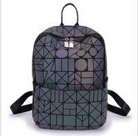Wholesale HG geometric ling glance noctilucent female backpack backpack laser package folding bag bag backpack fashion students