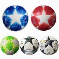 Wholesale High Quality Final European Champion League Soccer Balls World Cup PU Size Balls Granules Slip resistant Football