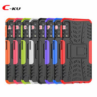 Wholesale Stand Hybrid Tyre Army Hard Case For Samsung Galaxy A7 A9 J2 Core J4 J6 Plus OnePlus T LG V40 Dizzle Shockproof Defender Armor Cover