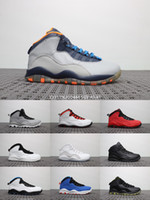 7e3542d3a0c2 Men Basketball Shoes Sneakers 10 BOBCATS CEMENT IM BACK ovo TINKER Paris NYC  CHI Rio LA Hornets City White 10s X Sports Shoes With Box