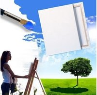 Wholesale Cheap white Blank Square Canvas Wooden Frame Board For Art Artist Oil Acrylic Painting Tools