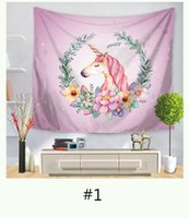 Wholesale 150 cm Unicorn Printed Fashion Tapestry Wall Hanging Tapestry For Wall Decoration Beach Towel Yoga Picnic Mat Sofa Cover Bedsheet Window