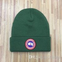 Wholesale twill linen online - ot Winter unisex CANADA brand BEANIE men knitted hat classical sports skull caps women casual outdoor GOOSE beanies
