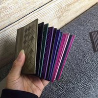 Wholesale card holder online - Hot luxury soft lambskin weave designer card holder women genuine leather credit card holder lady fashion passport cover free shopping