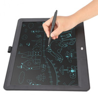 Wholesale usb draw pad online - 15 quot Portable Ultra Thin Writing Tablet Gifts for Kids Office LCD Writing Handwriting Pads Tablet Drawing Toys Lock key