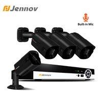 Wholesale night vision home surveillance system online - Jennov CH HD MP Audio Record Camera Video Surveillance POE Outdoor Night Vision Home Security Camera System CCTV NVR Set IP
