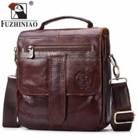 Wholesale cross body phone holder for sale - Fuzhiniao Genuine Leather Bag Fashion Men Cowhide Bags Messenger Ipad Holder Male Man Casual Tote Shoulder Crossbody Handbags