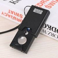 Wholesale Three Lens Triple Verifier Currency Detector Drawer Type LED Lighted Magnifier