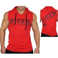 Wholesale vest body armor online - 2019 gym new fashion men s Sleeveless Cotton Sports Fitness Armor and Hat Guard Body building Training Cover gym hoodies vest