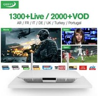 Wholesale IPTV Q1404 Android TV Box With Qhdtv Subscription French Arabic IT UK DE Channels RK3229 GB GB P Dual Wifi Supported