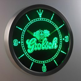 nc0002 Grolsch LUMINOVA Neon Sign Bar Beer Decor LED Wall Clock Free Shipping Dropshipping Wholesale