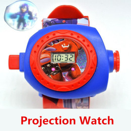 Big Hero 6 Baymax Projection Watch 24 Kinds Of Projection Hot Sale Cartoon kids Watches Best Gift For Children Free Shipping