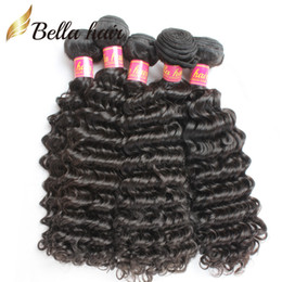 Discount malaysia virgin hair - Brazilian Bundles Virgin Unprocessed Human Hair Peruvian Malaysia Indian Mongolian Deep Wave Hair Extensions Weft Natura