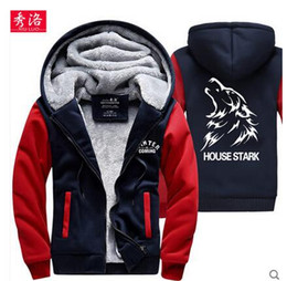 Discount 3xl cosplay costumes - Game Of Thrones Wolf House Stark A Song of Ice and Fire Hoodie Fleece Thick Warm Sweatshirt Cosplay Costume Coat