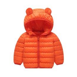 Discount red military long jackets - BibiCola baby winter coats boys girls baby cotton long sleeve warn dowm jacket children's hoodie Sports jacket cott