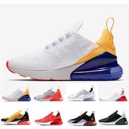 tiger lights 2019 - 270 running shoes for men women designer mens trainers triple black white University Red tiger Hot Punch just do it mens