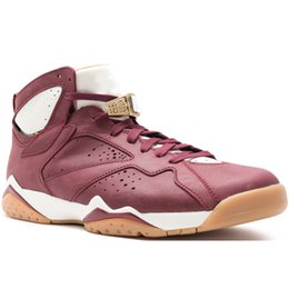 Brown packaging online shopping - 7 S Men Basketball Shoes Pantone Raptor Tinker Alternate Cigar Golden Moments Package Hare Pure Money Designer Sports Sneakers