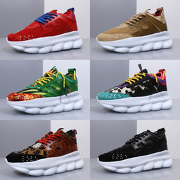 New casual bag fashioN online shopping - New Chain Reaction Men Women Luxury Brand Designer Shoes Best Quality Fashion Trainers Sneakers Casual shoes With Dust Bag