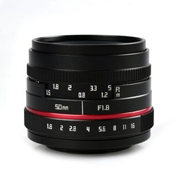 Discount c mount lenses - 50mm F1.8-F16 APS-C Manual Prime Camera Lens for SONY E Mount A6500 A6300 A6100 A6000 NEX-7 NEX-6 Olympus M4 3 FX Mount