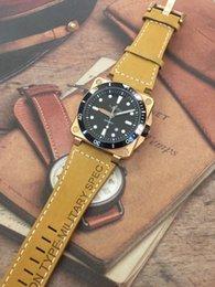 diving watch green bezel 2019 - New Style Men Automatic Mechanical Rose Gold Ceramic Bezel Watch Bell Aviation Men Sport Dive Watches Black Leather Rubb