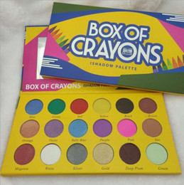 Discount boxed crayons - 2018 BOX OF CRAYONS Eyeshadow iShadow Palette 18 Colors Shimmer Matte Eyeshadow Palette Makeup Eye shadow CZ58