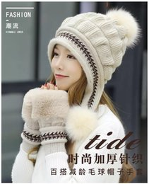 Rabbit fuR hat eaRs online shopping - Winter female hat rabbit hair Korean version cute wool hat plus velvet knit warm ear protector fashion youth adult