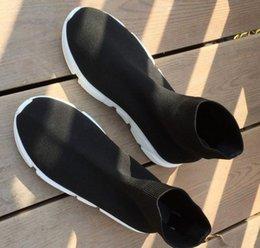 hiking socks for women 2019 - Desinger sneaker Speed sock high quality Speed Trainer shoes for men and women shoes Speed stretch-knit shoes Mid sneake