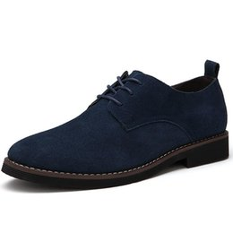 classic british shoes 2019 - MINGPINSTYLE Faux Suede Mens Shoes Casual Large Sizes Fashion 2018 British Shoes Men Casual Classic Lace Up For Male dis