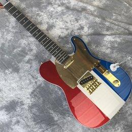Discount custom silver electric guitar - Custom shop custom electric guitar, three color metal silver top, rose wood fingerboard, 21 grade, Gold hardware.