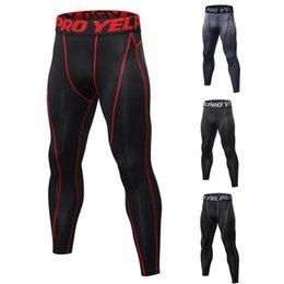Discount winter running leggings - Running Tights Men Sports Leggings Sportswear Long Trousers Yoga Pants Winter Fitness Compression Quick-drying Pants