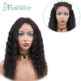 14 inch remy wig online shopping - Loose Wave Wig Brazilian Lace Frontal Human Hair Wigs With Baby Hair Non Remy Hair inch Natural Color