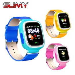 Discount real phones for kids - Slimy Q90 Real GPS Smart Watch Phone for Kids Child Support Wifi SOS Call Fitness Pedometer Touch Screen Smartwatch PK Q