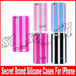 cell phone accessories cases covers iphone 2019 - Secert Brand Silicone Cases For iPhone X Cover For iPhone 7Plus 5 6 6S 6Plus 7 8 8Plus Cell Phone Accessories 5 colors