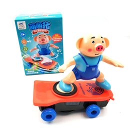 ElEctric scootEr kids online shopping - Skateboard pig Scooter Genuine tumbling stunt car is electric Light Sound Toys Flash Cool Electronic Toy For Kids toys Gift Party