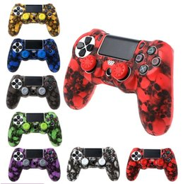 Discount ps4 silicone camouflage - For PS4 Camouflage Soft Silicone Rubber Cover Case Protection Skin Dualshock 4 Controller Case Accessories camo for ps4