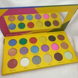 boxed crayons 2019 - Makeup eye shadow palette BOX OF CRAYONS Eyeshadow iShadow Palette 18 Colors Shimmer Matte Eyeshadow Palette CZ58 cheap