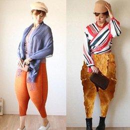 chicken novelties 2019 - 2019 Fashion Women Fried Chicken Loose Pants Fancy Drumstick Pants Elastic Waist Oversize Funny Harem Pants Orange Chic