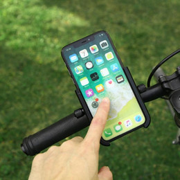 phone holders for bikes 2019 - Bicycle Phone Holder For iPhone Samsung Universal Mobile Cell Phone Holder Bike Handlebar Clip Stand Rotary MTB Mount Br