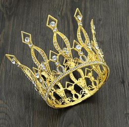 Wholesale Marriage Crown Headwear Hair Hoop Bride Crown Atmospheric Birthday Party Adult Princess Wedding Accessories