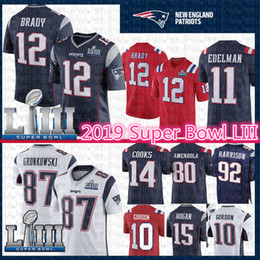 Super tomS online shopping - 2019 New Patriots Jersey Tom Brady Rob Gronkowski Super Bowl LIII Josh Gordon Julian Edelman Cooks Hogan James Harrison